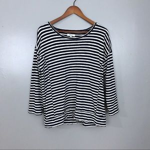 Madewell Navy And White Stripe Top